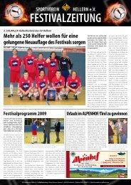 können Sie sich die Festivalzeitung downloaden - SV - Hellern