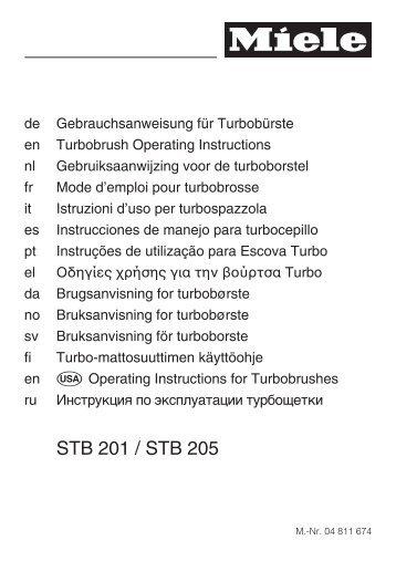 STB 201 / STB 205 - Miele