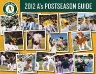 2012 A's POSTSEASON GUIDE - Oakland Athletics