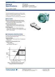 Model YTA Series HART Communication - Yokogawa