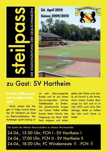 zu Gast: SV Hartheim - FC Neuenburg