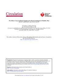 Electrocardiogram of Healthy Men - Circulation