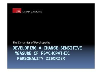 The Dynamics of Psychopathy