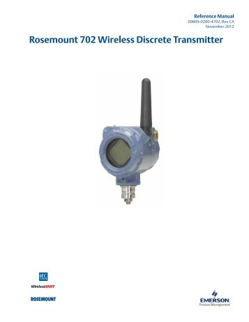Rosemount 702 Wireless Discrete Transmitter - Emerson Process ...