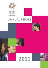 2011 Annual Report - St John's Youth Services