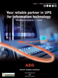 Your reliable partner in UPS for information technology Whenever ...