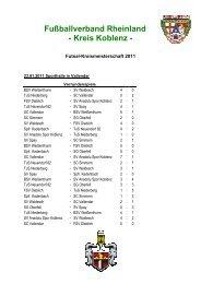 Fußballverband Rheinland - Kreis Koblenz -