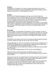 Toelichting minicompetitie SV Baarn - SV Baarn voetbal