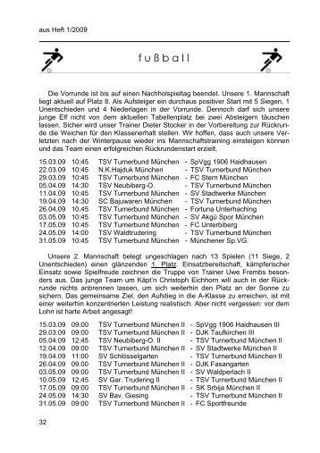 Heft 1 - TSV Turnerbund München eV