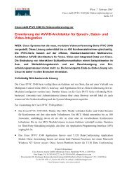 Erweiterung der Avvid-Architektur für Sprach-, Daten ... - Österreich