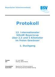 Bayerischer Schwimmverband Protokoll 13. Internationaler SOLAR ...