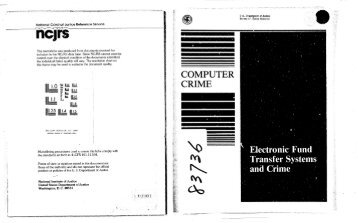 Computer Crime - Electronic Funds Transfer Systems and Crime
