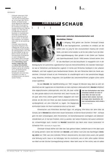 E - Christoph Schaub