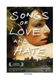 Songs of Love and Hate - Locarno Film Festival