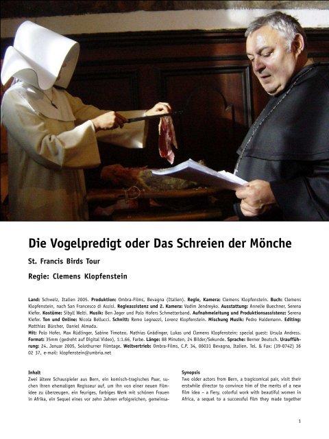 Die Vogelpredigt oder Das Schreien der Mönche - Arsenal