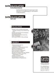 DATA DATA KALKULATION KALKULATION - DATA SYSTEMS