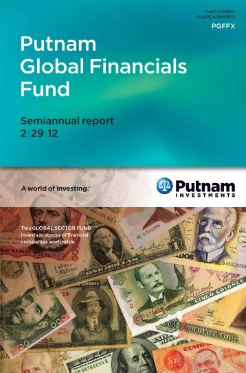 Putnam Global Financials Fund - Putnam Investments