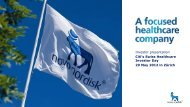 Investor presentation Citi's Swiss Healthcare Investor ... - Novo Nordisk
