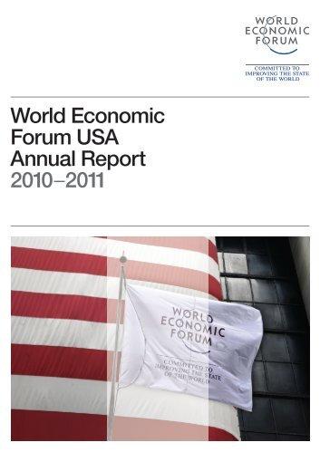 World Economic Forum USA Annual Report 2010–2011