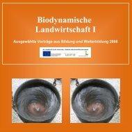 Sammelband biodynamische landwirtschaft i ... - Demeter