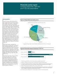Financials sector report - Carbon Disclosure Project