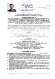 CV in English (PDF) - Martin Dvorak Consulting