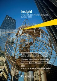 Insight for Executives in Financial Services – Summer 2009
