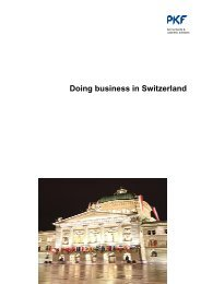 Doing business in Switzerland - PKF