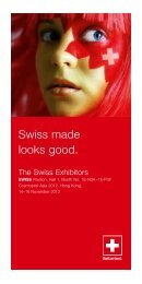 Swiss made looks good.