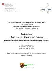 South Africa's Black Economic Empowerment Program - The ...