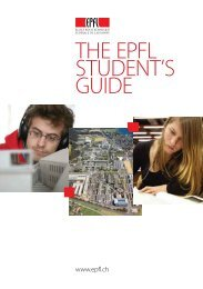 THE EPFL STUDENT'S GUIDE - International Relations   EPFL