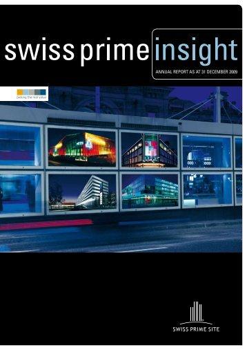 annual report 2009 - Swiss Prime Site