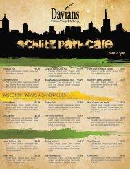 7am -3pm - Schlitz Park Cafe - Davians