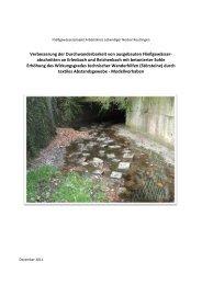 gibt es den Bericht der Begleituntersuchung. - BUND Neckar-Alb