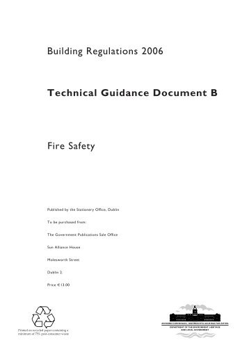 Technical Guidance Document B - Fire Safety - Department of ...