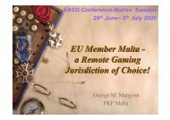 EU Member Malta - European Association for the Study of Gambling