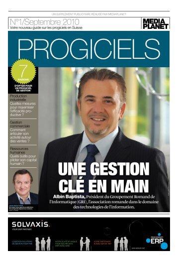 Mediaplanet dans Le Temps - Dossier Progiciel - GRI