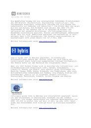 SITE-Referenzen mit internationaler Ausrichtung - symantis GmbH