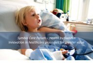 Symbio Care Forum – Health by Sweden Innovation in healthcare ...