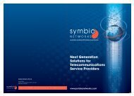 Next Generation Solutions for ... - Symbio Networks