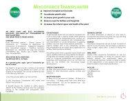 Symbio MycoForce Transplanter Datasheet