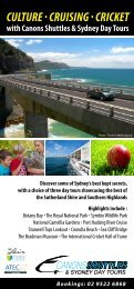 culture · cruising · cricket - Canons Shuttles & Sydney Day Tours