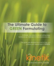 The Ultimate Guide to GREEN Formulating - Kinetik