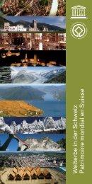 Patrimoine mondial en Suisse - Schweizerische UNESCO ...