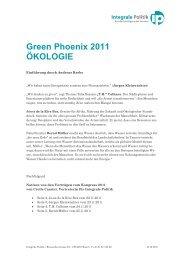 Green Phoenix 2011 ÖKOLOGIE