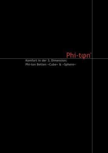 Genießen Sie den 3D-Komfort auf Ihre ganz persönliche Art - Phi-ton