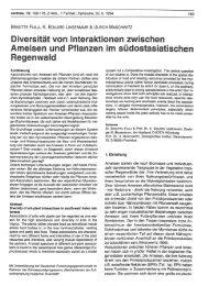 Diversität von Interaktionen zwischen Ameisen und ... - OPUS