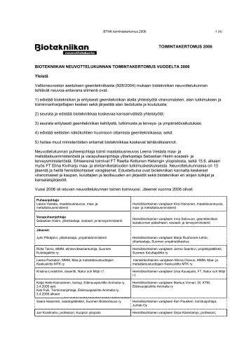 TK 2006 - Biotekniikan neuvottelukunta