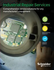 Industrial Repair Services - Schneider Electric