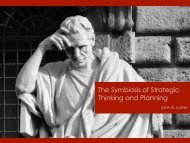 03.01 – The Symbiosis of Strategic Thinking and Planning - ldrlb